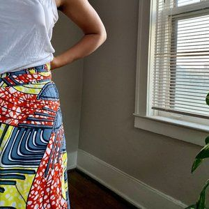 African Printed wrap skirt
